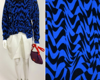 90s Ultra Op Art neo-geo cashmere blend knit sweater