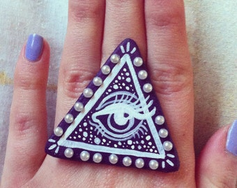 Handmade 'All Seeing Eye' Ring