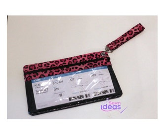 SALE - Travel organizer -boarding pass holder - passport cover - ready to ship