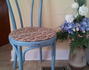 Vintage, Up-cycled, Blue, Bentwood, Statement Chair.