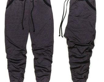 Men's Charcoal Gray/Black Jogger Pants