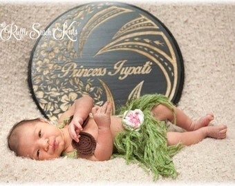 Custom Order Hand Crochet Island Girl Hula Costume Set Newborn-5T