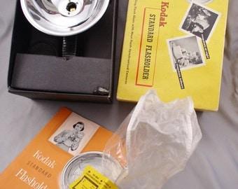 KODAK Standard Flasholder 1940s Flash Attachment for Flash-Synchronized Cameras - In Box