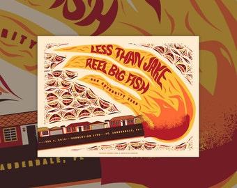 Less Than Jake & Reel Big Fish Screen Print Concert Poster Print Florida