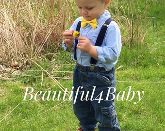 Yellow Baby Bow Tie, Baby Boy Bow Tie,Infant Bow Tie,Infant Bow Ties, Toddler Bow Ties, Baby Bow, Baby Bows