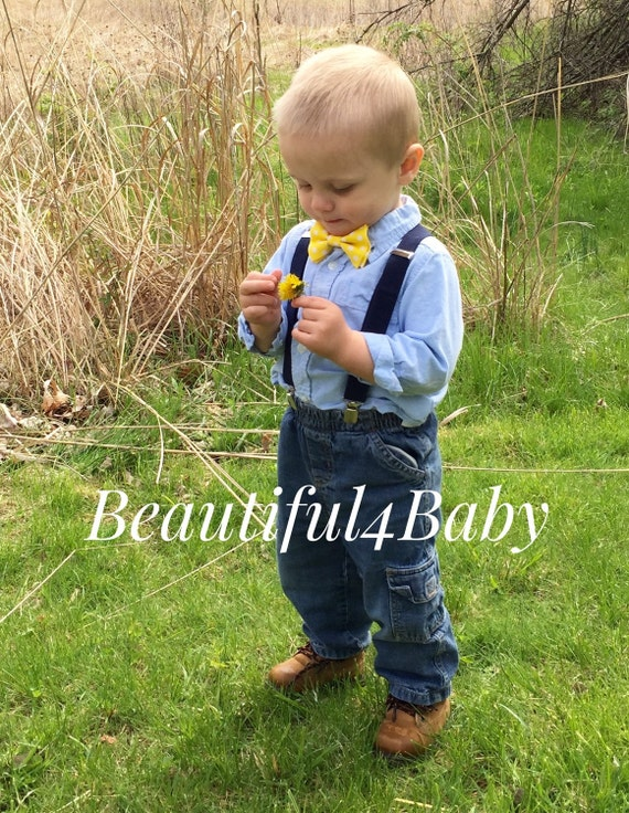 yellow baby bow tie baby boy bow tieinfant bow tieinfant