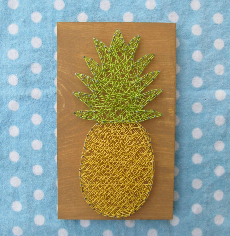 String Art: Made To Order String Art Sign Pineapple Sign String Art