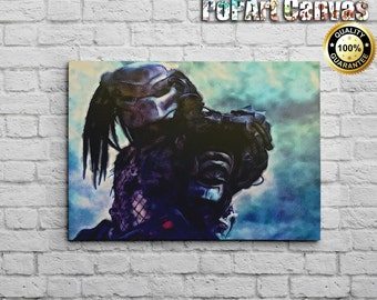 FREE SHIPPING: The Predator Water Color on Canvas