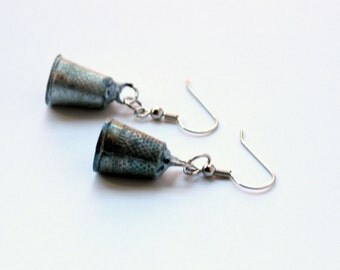 Monopoly Thimble Token Earrings