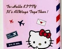 Hello Kitty Pink Airmail Sanrio  PASSPORT COVER