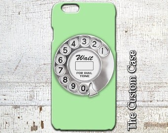 Rotary Phone Dial IPhone Case, Retro Mint Rotary Dial Iphone Cover, Iphone 4 case, Iphone 5 case, Iphone 6 and 6 Plus Case