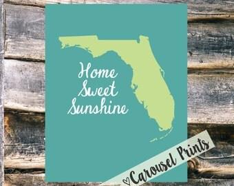 Home Sweet Sunshine {Florida} Instant Printable Wall Art!