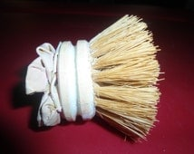 Antique Wood and Paper Mache Whisk Dusting Brush