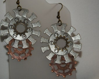 Gears. Steampunk Earrings
