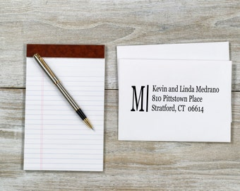 Personalized Custom Wood Handle Rubber Address Stamp-Traditional