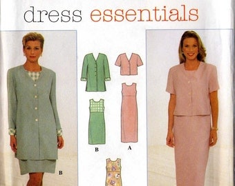 Simplicity 7965 sewing pattern for Misses' Dress and Jacket Uncut Factory-folded