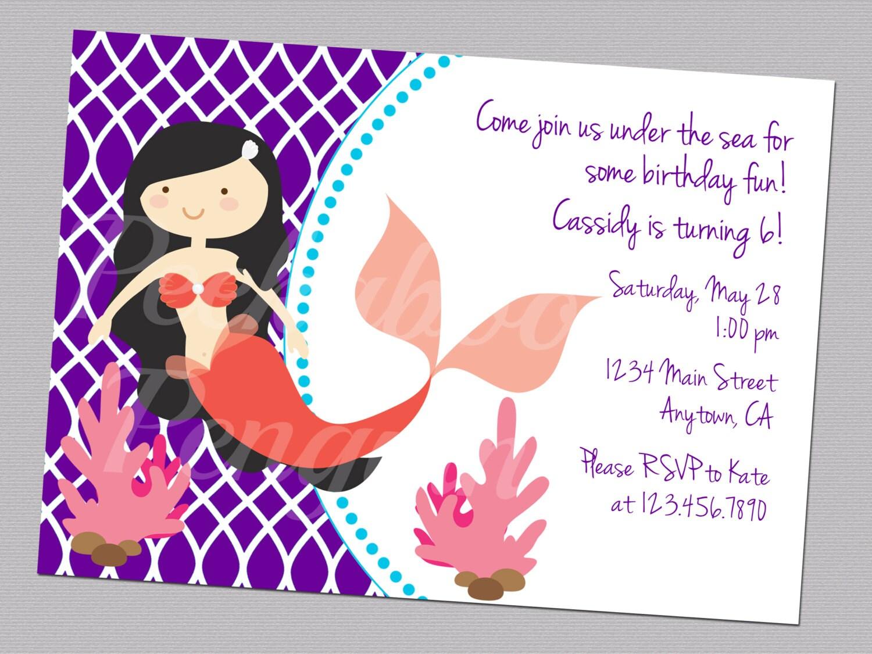 Ocean invitation – Ocean Party Invitations