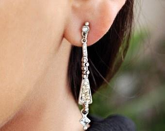 Art Deco Earrings, Deco Earrings, Wedding Earrings, Wedding Jewelry, Art Deco, Earrings, Gatsby, Gatsby Earrings, Art Deco Jewelry E935