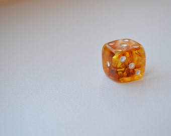 Baltic Amber Dice, Polished, Best For Souvenir or Gift