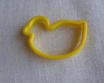 Large Yellow Duck Cookie Cutter 4 1/4 Inch Plastic Duck Cookie Cutter Animal Bird Large Cookie Cutter NotOnlyButtons