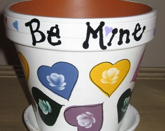Be Mine Clay Pot - Valentine Decoration