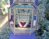 Vintage Navajo Rug Weavers God's Eye or  Ojo de Dios