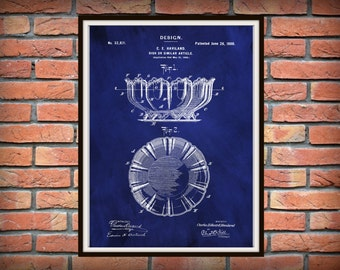 Patent 1900 Haviland Limoges Dish or Bowl China Design Patent = Art Print - Poster Limoges France Wall Decor Kitchen Item China