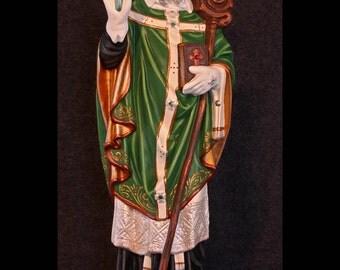 "St. Patrick 20"" Bishop Catholic Christian Plaster Irish Statue"