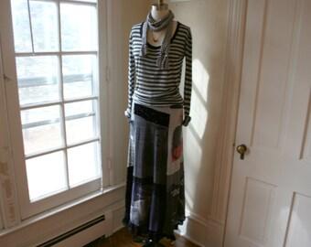 Bohemian Maxi Skirt / Breathe-Again Skirt