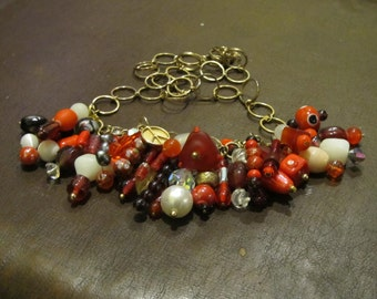 Multi Red Layered Necklace