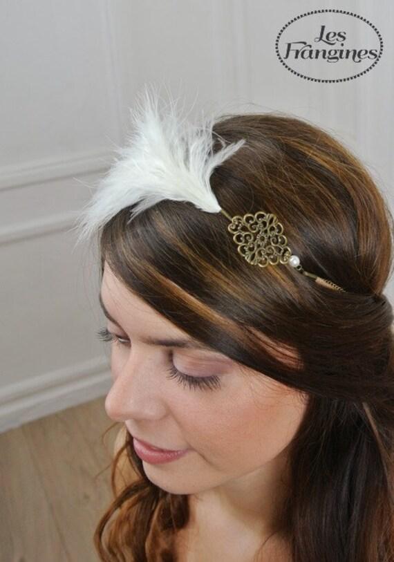headband bijou r tro plume mod le ann es folles ann es 20. Black Bedroom Furniture Sets. Home Design Ideas
