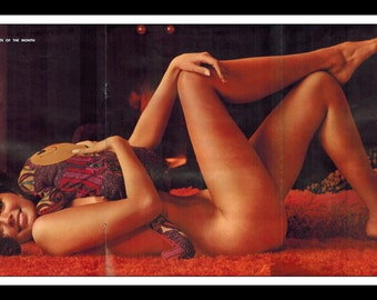 "Mature Playboy March 1970 : Playmate Centerfold Christine Koren 3 Page Spread Photo Wall Art Decor 11"" x 23"""
