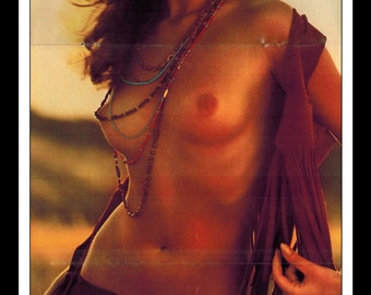 "Mature Playboy October 1971 : Playmate Centerfold Claire Rambeau 3 Page Spread Photo Wall Art Decor 11"" x 23"""