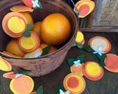 Orange Garland,Orange, Orange Blossom Garland, Orange Garland, Orange Banner, oranges,Flower Garland, Felt Flower,Banner, Garland