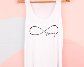 Forever Young - the women's graphic tank
