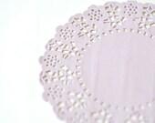 """4.25"""" Lavender Round Paper Doilies- Lace Doilies- Gift Wrap- Party Decoration Wedding Decor Baby Shower Decor - 20 pcs"""