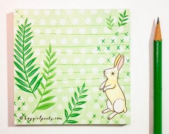 Bunny Rabbit Stationery Bunny Stationery - Handmade Cute bunny Woodland Animal Stationery woodland Animal Note Paper Pad