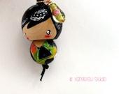 Kokeshi doll ornament charm - wakakimi