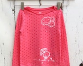 4yrs Pink Long Sleeve Rainy Day Clouds Long sleeve Organic top Pink Stars Umbrella cute zombie