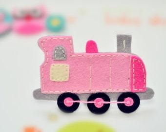 New! Set of 4pcs handmade felt train--baby pink (FT731)