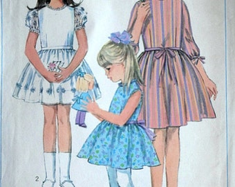 Vintage 60's Simplicity 7153 Sewing Pattern, Girls Dress, Size 8, 26 Breast