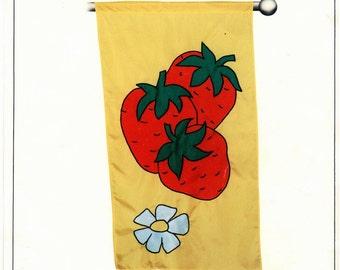 Flag Factory Pattern - Strawberry - UNCUT