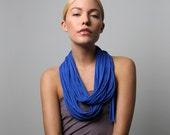 Infinity Scarf, Gifts For Her, Blue Scarf, Blue Infinity Scarf, For Her, Birthday Gift, Blue Eternity Scarf, Gift, Winter, Womens, Scarves
