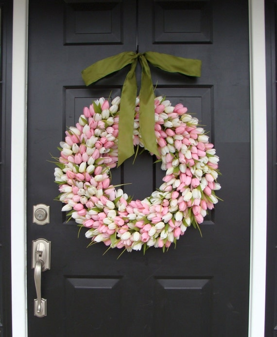 22 inch Spring Wreath- Mother's Day Wreath- Spring Decor- Gift for Mother's Day