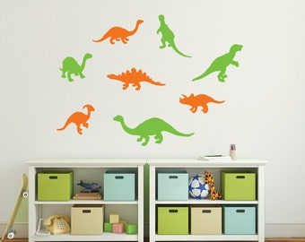 Dinosaur Wall Decals Playroom Wall Decals Kids  Nursery - Custom vinyl wall decals dinosaur