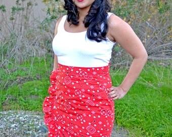 Hillbilly Honeys: 'Sophia' Ruffled Pencil  Skirt - Made to Measure