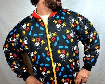 Vintage Reversible Puffy 80s Mickey and Minnie Mouse Sweatshirt