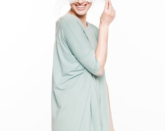 LeMuse mint viscose onesize Summer dress with little bow on the back