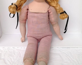 Antique English Doll - Rare Original Doll - Bisque Head Doll - Collectors Doll - Gift for Her - Gifts for Mom - Vintage Doll