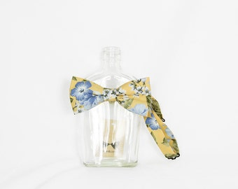 Piper 03 - Yellow/Blue Floral Men's Pre-Tied Bow Tie or Self-Tied Bow Tie